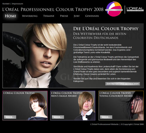 L'Oreal Color Trophy - Homescreen
